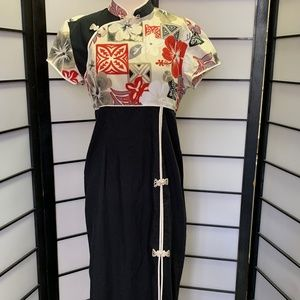 Vintage Maxi Dress Chinese Cheongsam Hawaii Muumuu
